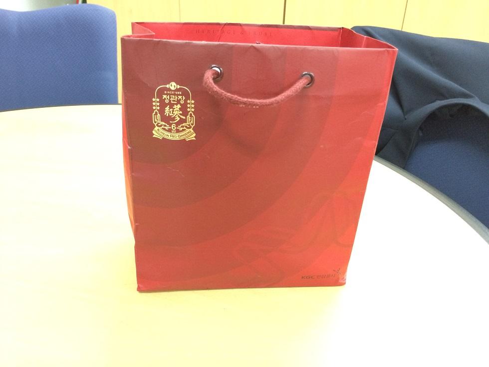 종이봉투 내 가방, 음식물 등