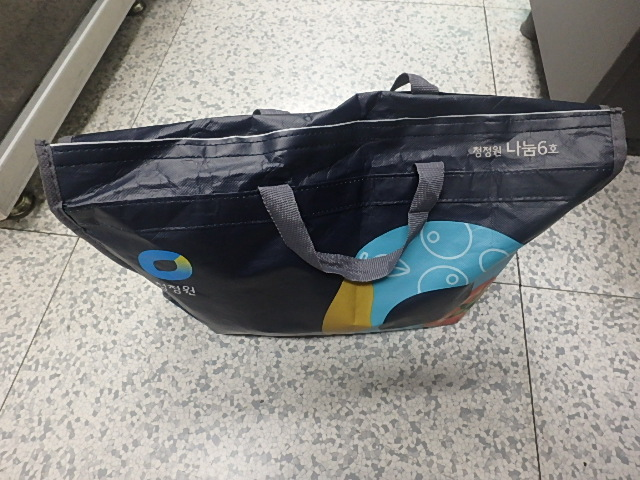 파란 쇼핑백